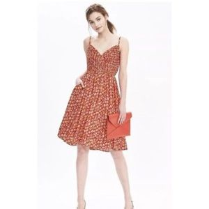 Banana Republic Red Strappy Floral Dress